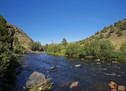 The Chewaucan River in southern Oregon.